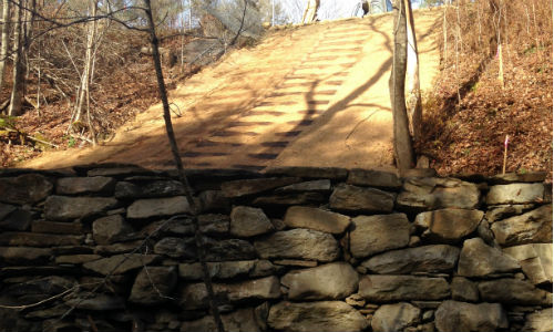 erosion control mat slope